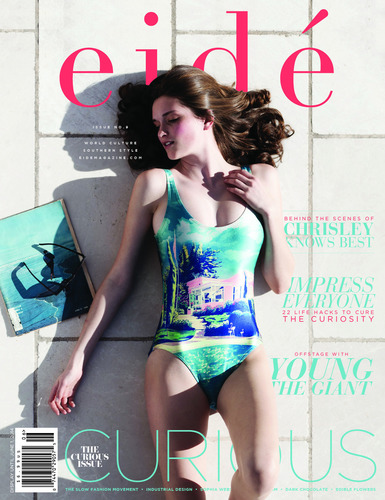 """Eidé Magazine's Spring 2014, """"The Curious Issue"""" Cover (PRNewsFoto/Eidé Magazine)"""