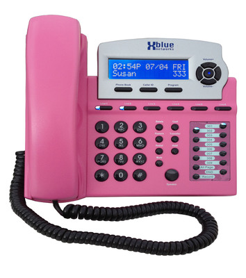 Pink X16 special edition telephone  from XBLUE Networks.  (PRNewsFoto/XBLUE Networks LLC; The Virginia G. Piper Cancer Center at Scottsdale Healthcare)