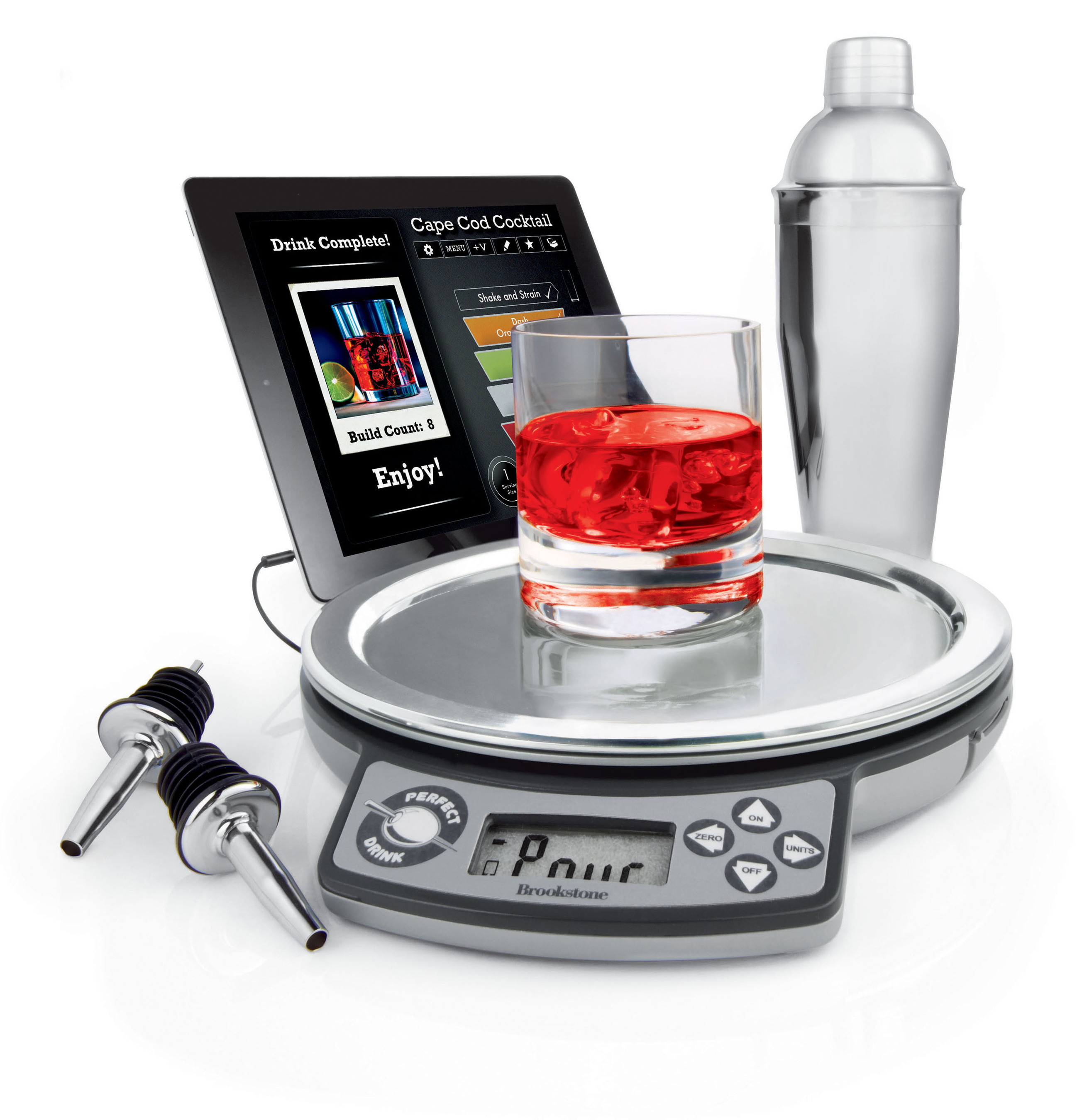 Brookstone Perfect Drink App-Controlled Bartending System. (PRNewsFoto/Brookstone) (PRNewsFoto/BROOKSTONE)