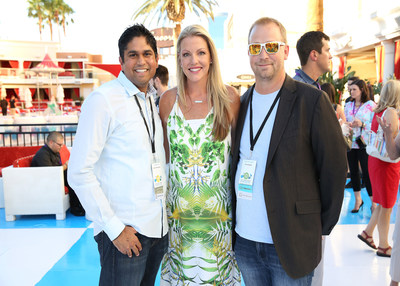 More than 1,000 marketing executives gathered at Experian Marketing Services' 2014 Client Summit: Storytellers in Las Vegas July 23-25, 2014. Pictured left to right: Darshan Gad, director, Direct Marketing, Hilton Worldwide; Ashley Johnston, senior vice president of global marketing, Experian Marketing Services; and Dave Beveridge, senior vice president, marketing, Shoe Dazzle. (PRNewsFoto/Experian Marketing Services)