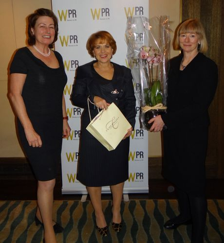 Sue Hardwick (left) WPR Joint President with Lorraine Heggessey (centre) and Angela Oakes (right) WPR Joint ...
