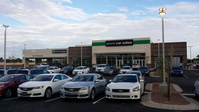 The 13,192-square-foot San Tan Motorplex Car Sales dealership can accommodate 135 vehicles outside and features a dedicated delivery area.