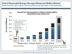 Extraordinary growth for the global energy storage lithium battery market. (PRNewsFoto/Frost & Sullivan)
