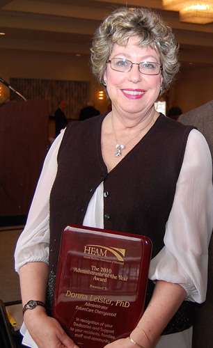 Donna Leister, Ph.D. - Health Facilities Association of Maryland's Administrator of the Year.  ...