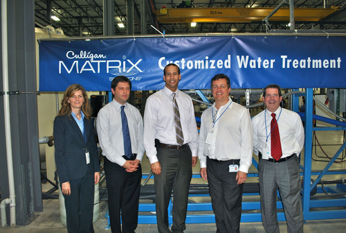 Representatives from Federal, state and local government joined Culligan's Chief Operating Officer Allan Connolly (second from right) in opening ceremonies for the expanded Libertyville facility.  (PRNewsFoto/Culligan International)