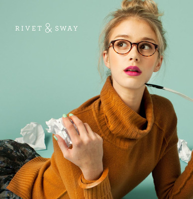 A stylish pair of specs, whether your vision is perfect or not, can instantly transform a look. Glasses are no longer something we need, they're an accessory that we can't get enough of. Visit rivetandsway.com to browse the full collection.