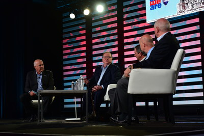 At the annual RE/MAX Broker Owner Conference in Chicago, RE/MAX CEO, Chairman of the Board and Co-Founder Dave Liniger, Real Trends President Steve Murray, Inman News Founder Brad Inman and RISMedia Founder and CEO John Featherston, gathered on the same stage together for the first time.