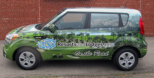Keep an eye out for the ResortsandLodges.com cars near you!.  (PRNewsFoto/ResortsandLodges.com)