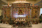 This four-feet tall gingerbread house decorates the lobby of the Church of Scientology's Fort Harrison Auditorium,and was created with 185 pounds of gingerbread, 95 pounds of frosting, more than 2,000 pieces of candy, and 1,652 individual gingerbread-cookie shingles that cap the roof. An electric train circles the winter landscape setting.