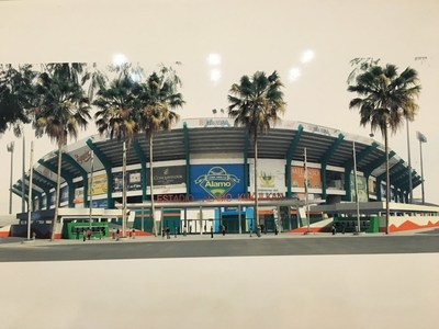 A rendering of Kukulcan Alamo Park's new main entrance.