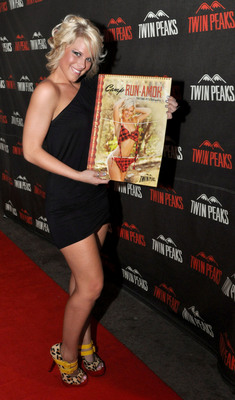 Miss Twin Peaks 2011 and Cover girl Brittany Wilkerson at the 2012 Calendar Launch Party.  (PRNewsFoto/Twin Peaks)