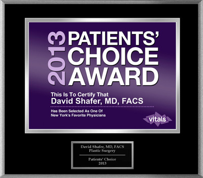Dr. David Shafer of New York, NY Named a Patients' Choice Award Winner for 2013.  (PRNewsFoto/American Registry)
