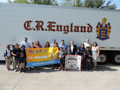 Salt Lake City-based C.R. England on Tuesday, August 4 donated over 850 backpacks, along with $15 school supply vouchers, to students in the Laredo and United Independent School Districts in Laredo, TX.  C.R. England has a terminal in Laredo.