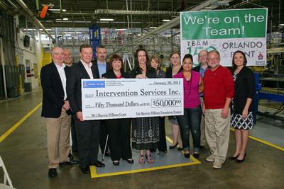 Sherwin-Williams Foundation Awards $50,000 Grant to Orlando's Intervention Services.  (PRNewsFoto/Sherwin-Williams Company)