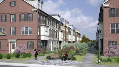 Rendering of TOTTEN MEWS, under development in Michigan Park, Washington D.C.