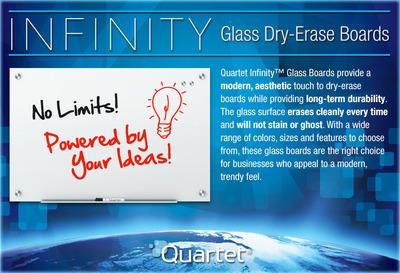 Infinity Glass Dry-Erase Boards.  (PRNewsFoto/Quartet Brand)