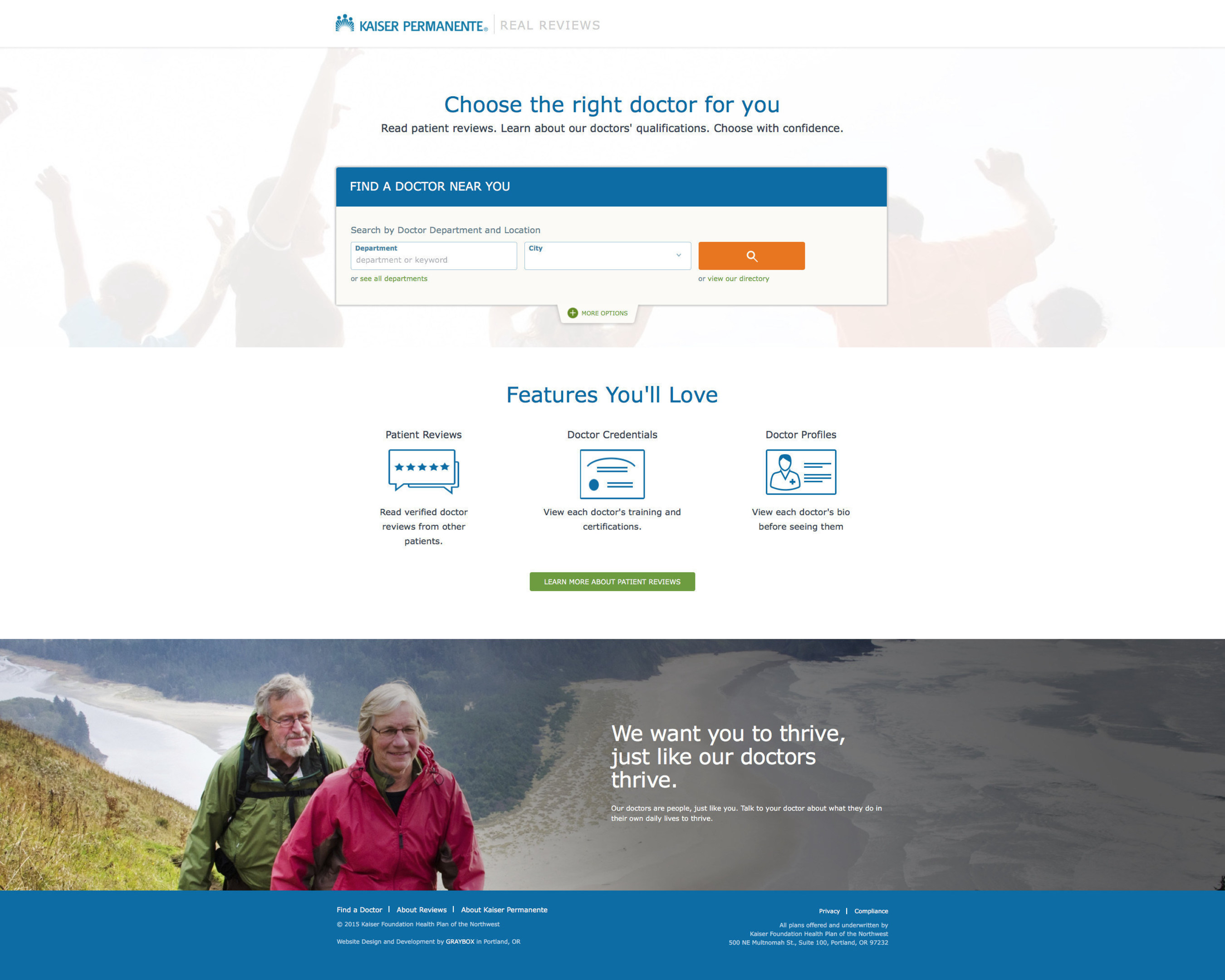 Kaiser Permanente Northwest Launches 'Real Reviews' Online