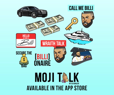 DJ Khaled launches MOJI TALK now available on the App Store.