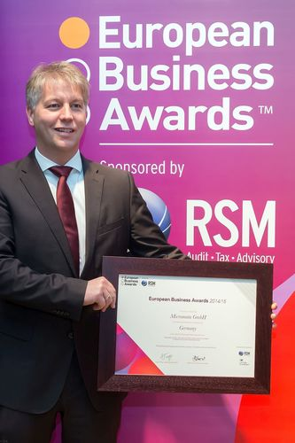 Kai Reinhard, CEO of Micromata, at the European Business Awards' gala for the German National Champions at ...