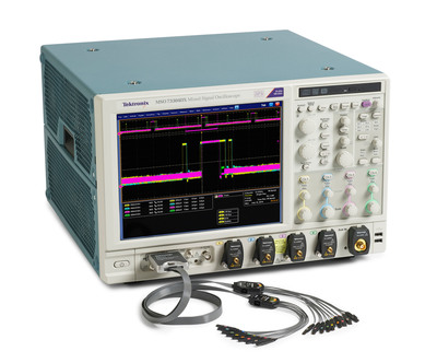 Tektronix new MSO/DPO70000DX Series of performance oscilloscopes feature models with 23GHz, 25GHz, and 33GHz bandwidth and enhanced tools for debugging digital and analog circuits.  (PRNewsFoto/Tektronix, Inc.)