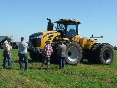 CTIS enables a tractor operator to change tire pressures on the go for optimum performance when changing from road conditions to field conditions.