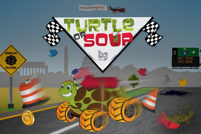 Turtle Or Soup- Survival of the Smartest, Free Marketing Gaming App by The Borenstein Group that your boss might approve of.  (PRNewsFoto/Borenstein Group, Inc.)