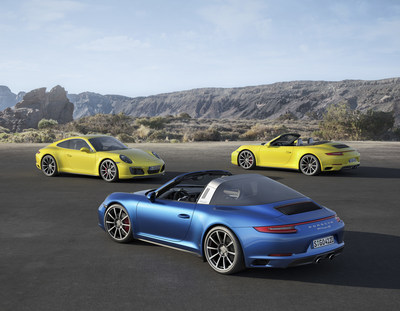 Porsche announces the new 911 Carrera 4 and 911 Targa 4