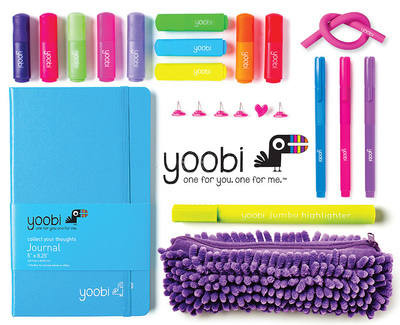 An assortment of Yoobi school supplies. For every Yoobi item purchased, an item is distributed to a classroom in need right here in the U.S. Available at Target stores nationwide. Visit Yoobi.com for more information. (PRNewsFoto/Yoobi)