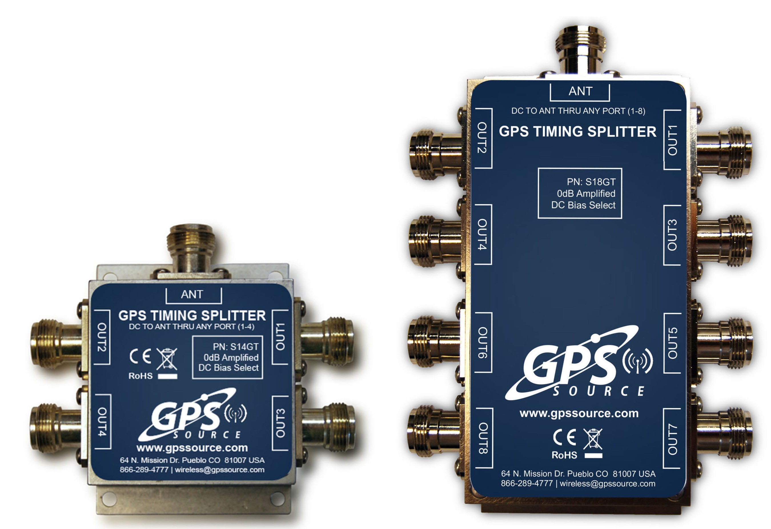 GPS Source, Inc. Is Pleased to Announce the Release of a New Line of GPS Splitters Created for the Small Cell Wireless and Distributed Antenna System (DAS) Markets