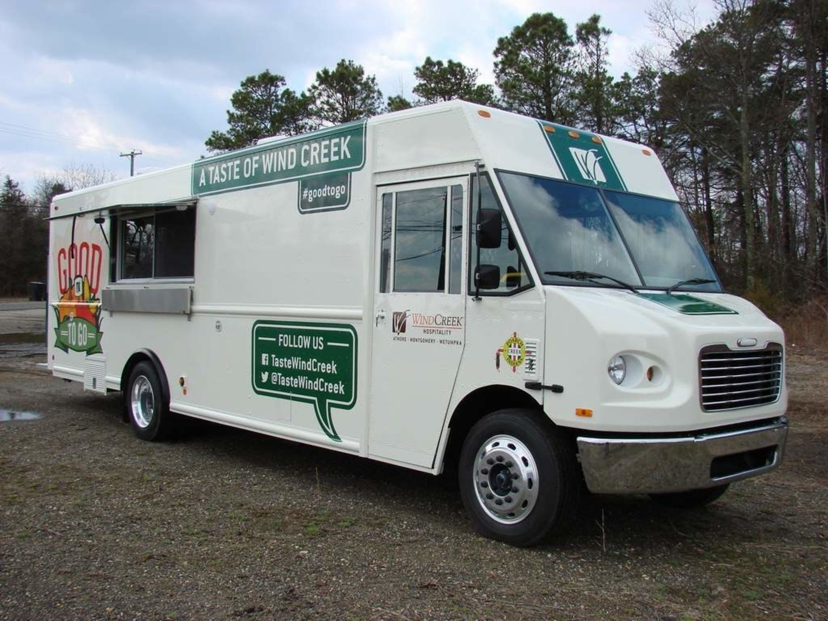 """Wind Creek Hospitality """"Good to Go"""" Food Truck travels the region serving the community."""