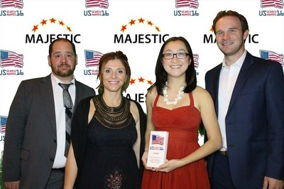 Members of the MilliporeSigma team with the US Search Award, from left to right: Mike Boyle, Marianna Gutteridge, Farrah Fan and Rich Winkler