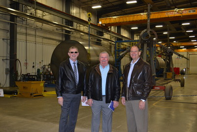 CEO Howard Seely, L. Meider, and D. Edling at Belle Fourche Industrial Rail Park Opening October 6, 2016