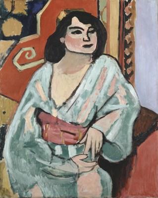 Henri Matisse. L'Algerienne, 1909. Oil on canvas. Collection Centre Pompidou, Paris. MNAM-CCI. Legs du Victomte Guy de Cholet aux Musees nationaux, 1916, 2009. AM 2009-214. (C) 2016 Succession H. Matisse/Artists Rights Society (ARS), NY