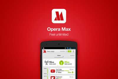 Opera Max: a free and easy-to-use data savings app that compresses data across applications on your mobile device - including video, text and images - so you can get the most out your data plan and more control over your data usage.  (PRNewsFoto/Opera Software)