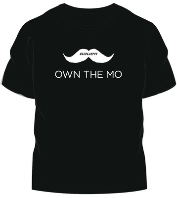 "Limited edition Bauer Hockey ""Own the Mo"" t-shirts will support the Movember Foundation"