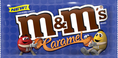 M&M'S(R) Caramel Chocolate Candies will be available in May, 2017 at retailers nationwide in Singles (1.41 oz.), Sharing Size (2.83 oz.) and Sharing Size Stand Up Pouch (9.6 oz.).