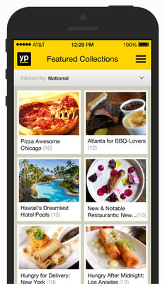 Discover new businesses with featured collections (PRNewsFoto/YP)