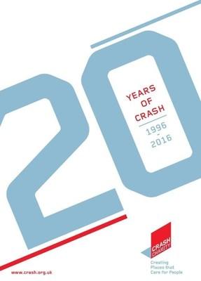 20 Years of CRASH - Anniversary Publication front cover (PRNewsFoto/CRASH)
