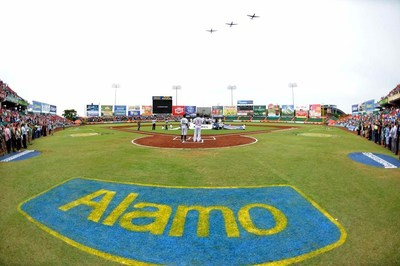 The stadium name change is thanks to a sponsorship agreement with Alamo Rent A Car.