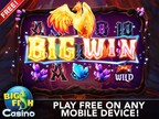 Big Fish Casino introduces Luxury Slots.  The first luxury slot to release is Phoenix Rising, which features an auto-spin function, rich graphics, fiery animations and a full-screen interface that supports up to 25 lines of winning combinations.  Phoenix Rising is available on iOS and will be available for all mobile devices in the Fall. (PRNewsFoto/Big Fish)