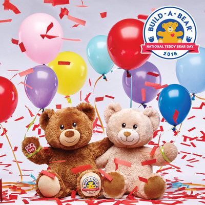 Build-A-Bear Workshop is inviting guests to celebrate the brand's favorite holiday, National Teddy Bear Day, in stores on Sept. 9 with $5 teddy bears. For every $5 purchased, Build-A-Bear will donate a furry friend to children's charities around the world.