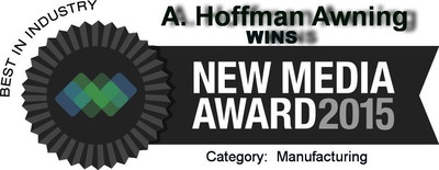 WINS 2015 New Media Award - Best in Industry-Manufacturing Website Award  http://ahoffmanawning.com/category/awards/