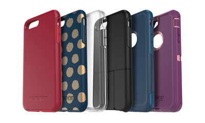 OtterBox Symmetry Series, Commuter Series and Defender Series are available now for iPhone 7 Plus, with uniVERSE available to preorder now.