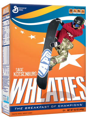 Wheaties Celebrates Two Historic Firsts with Sage Kotsenburg & Mikaela Shiffrin.  (PRNewsFoto/General Mills, Inc.)