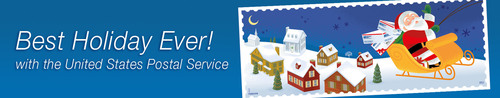 Best Holiday Ever with the United States Postal Service.  (PRNewsFoto/U.S. Postal Service)