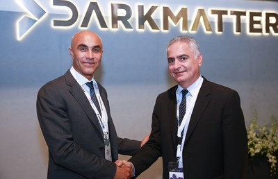 Left to Right - Rabih Dabboussi - Senior Vice President of Sales, Marketing and Business Development of DarkMatter & Fadi Kanafani - Regional Director for Middle East and Africa at NetApp. (PRNewsFoto/DarkMatter)