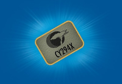 Pictured is Cypress's CY294X high-performance programmable oscillator, delivers best-in-class jitter performance and a broad range of output frequencies for next-generation networking systems.