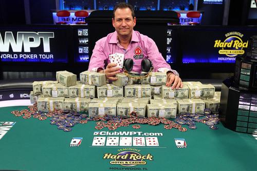 Eric Afriat of Montreal, Canada Wins $1,081,184 (PRNewsFoto/Seminole Hard Rock Hotel Casino)