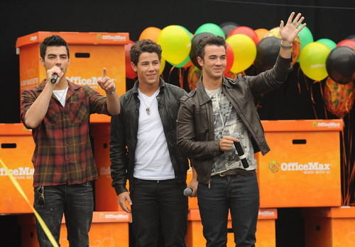Jonas Brothers Kick Off OfficeMax's Annual 'A Day Made Better' Cause Campaign for Teachers
