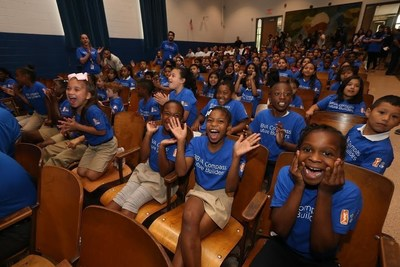 BBVA Compass, NBA Cares and WNBA Cares teamed up to bring the bank's Future Builders financial literacy program to Dallas' Bayles Elementary School.